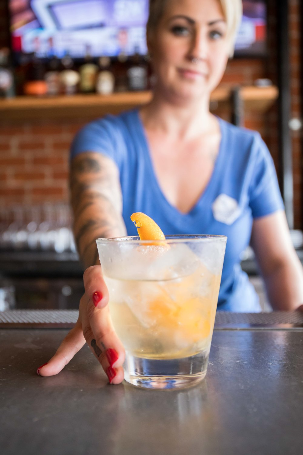 """Moving on over from other noted craft cocktail bars in San Diego, Ashley Moore steps into the role of Head Bartender. Her spirit forward approachable cocktail program includes some fun cocktails like """"My First Time"""" - jalapeno-infused tequila, St. Germain, Yellow Chartreuse, lemon, grapefruit bitters & salt."""