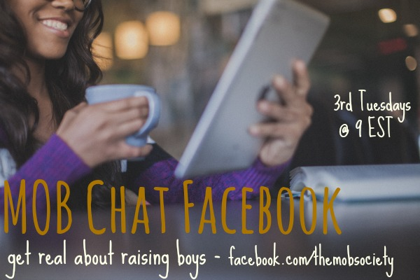 Join the #mobsociety as we chat tonight at 9PM EST about single mom raising boys. Come with questions, we're getting real about raising boys.