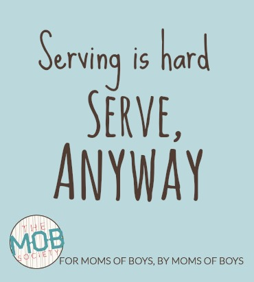 We serve people when we offer them some part of ourselves... new at the #mobsociety