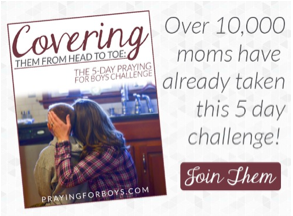 Prayer isn't an optional part of parenting. Join this free 5-day prayer challenge from author of Praying for Boys, Brooke McGlothlin.