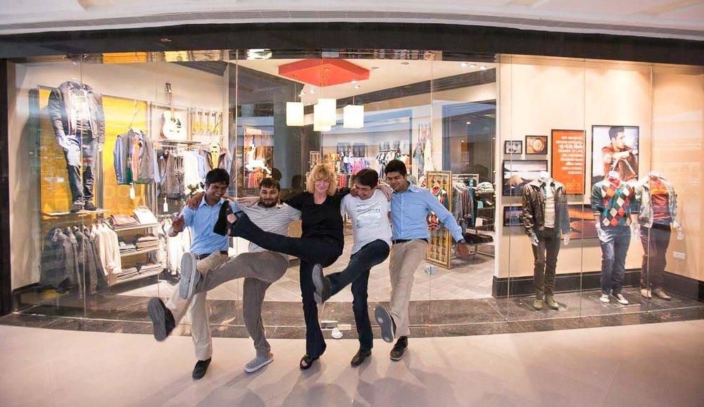 High kicks with The Parx Team to celebrate  brand launch and store opening In Pune India