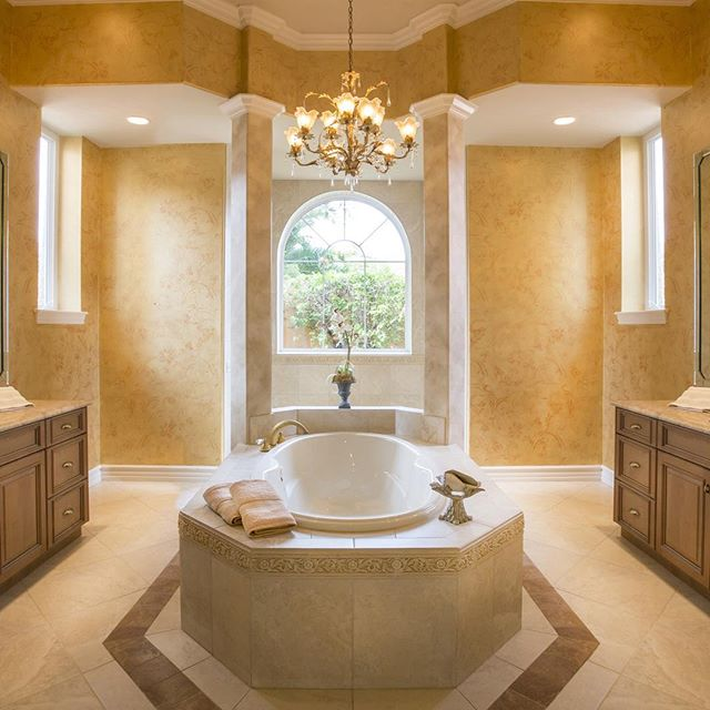 Gorgeous master bath we photographed at a home in south Florida. #interior #homedesign #bathroom #luxuryrealestate #luxuryproperties #realestate