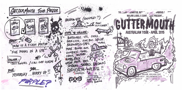 Guttermouth Poster Sketch
