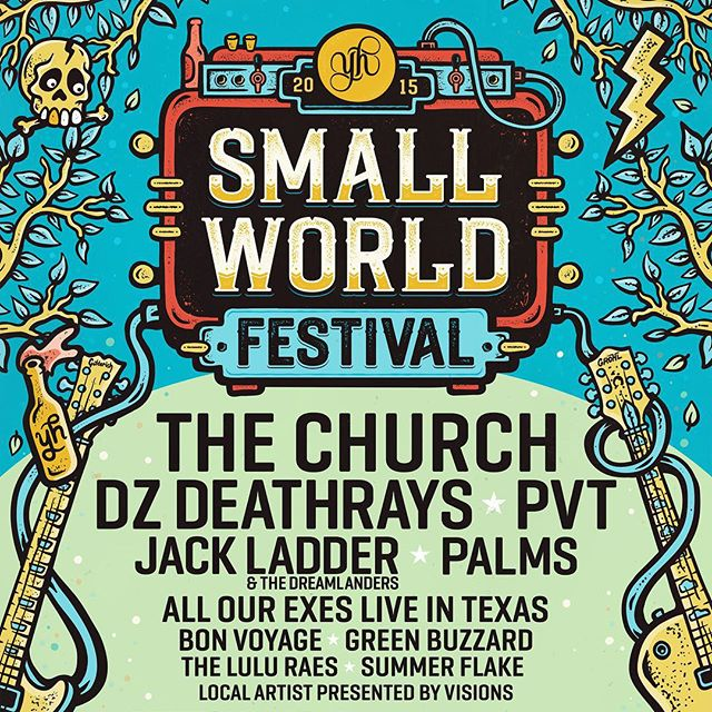 Excited to be seeing my artwork for this year's Small World Festival popping up all over the place. Collaborating with @honeyroguedesign, we pumped out some killer festival artwork.  Saturday 19th of September. Presented by Young Henrys. At its new home in Sydney Park. Featuring The Church, DZ Deathrays and PVT. And food by Portenos, Bloodwood, Marys, Cornersmith and Black Betty BBQ. #smallworldfestival #younghenrys