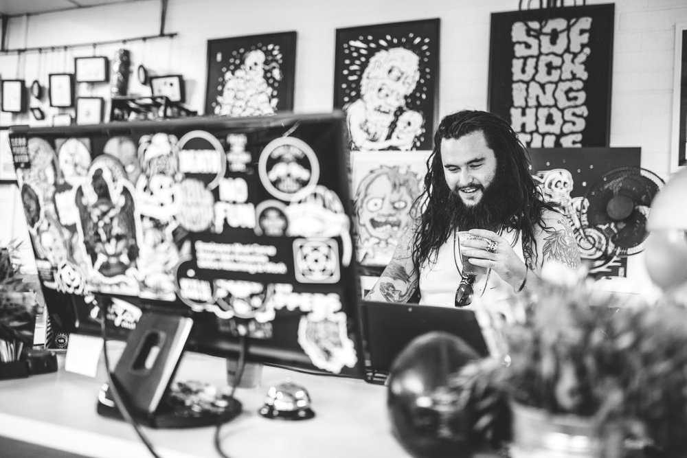 Photos from my workspace at Snake Eyes Studios. Photos by Billy Zammit.