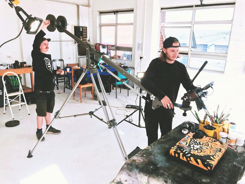 Behind the scenes as Ryan and Rhys nail the final shots. Filmed at Studio Two in Brunswick, Melbourne.