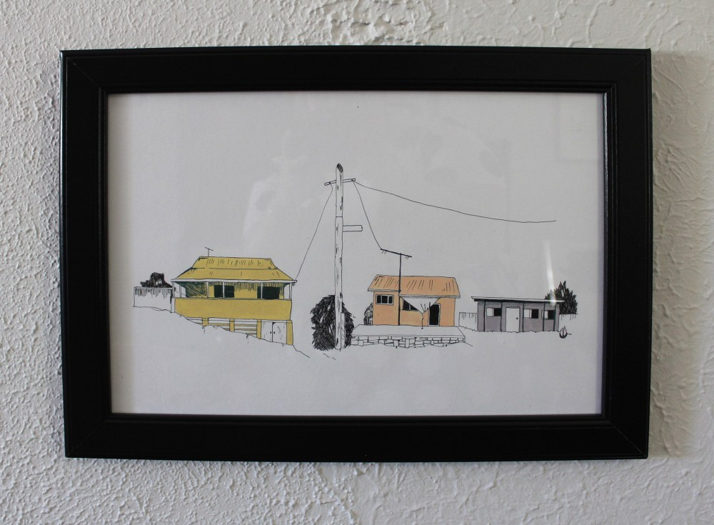 Suburb (After Violet Auld) 2014 Ink and Watercolour on paper