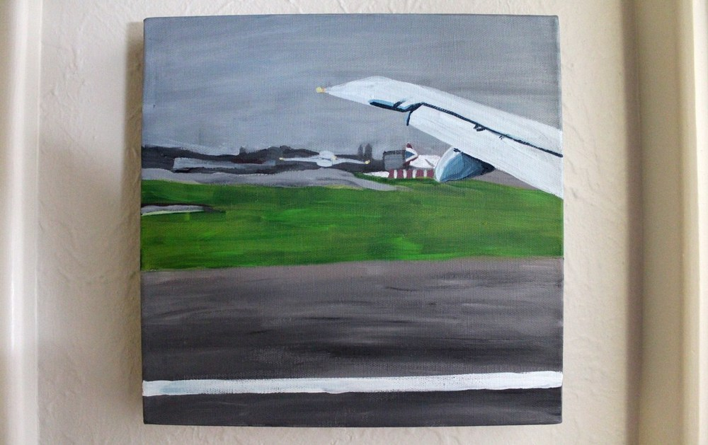 Airport (After Nicole Slatter)  2014 Acrylic Paint on Canvas