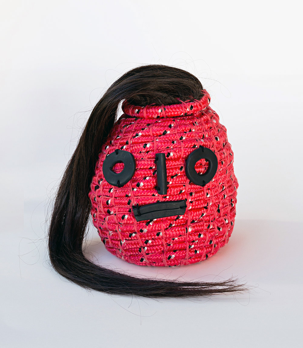 Hennessy (Girls love being talked down to) , 2017 Polycord, Cotton, Polymer Clay and Human Hair Photo by Ethan Blackburn