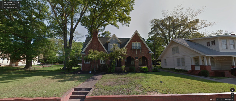 The house at 1311 Augusta St. in Greenville, SC. (Image courtesy of Google Street View)