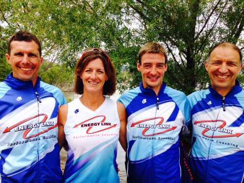 Coaches (L to R)  Bruce, Christina, Owain & Lew