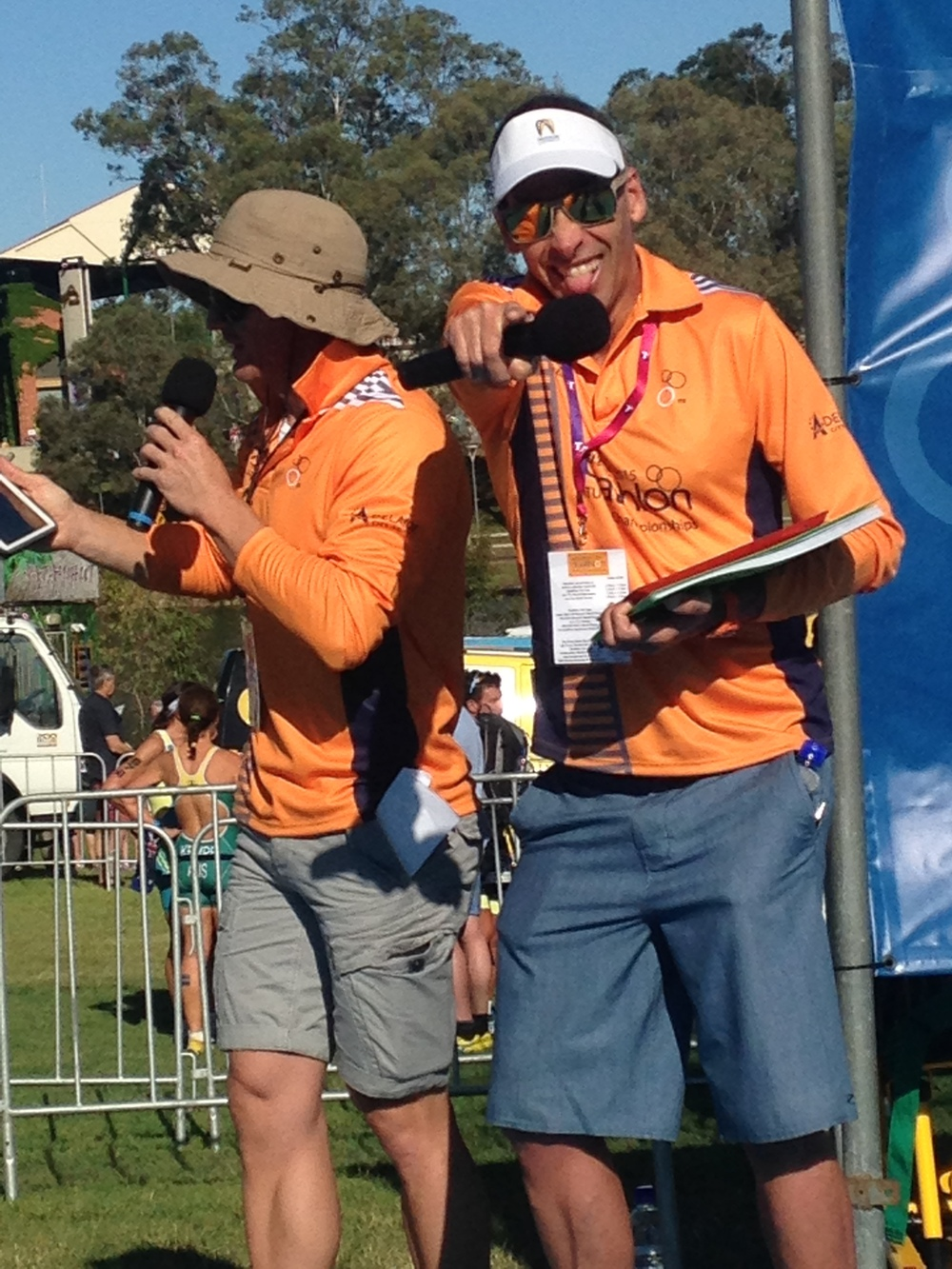 BTC member Matty Harris was straight off the plane from Hawaii World Champs to commentate!
