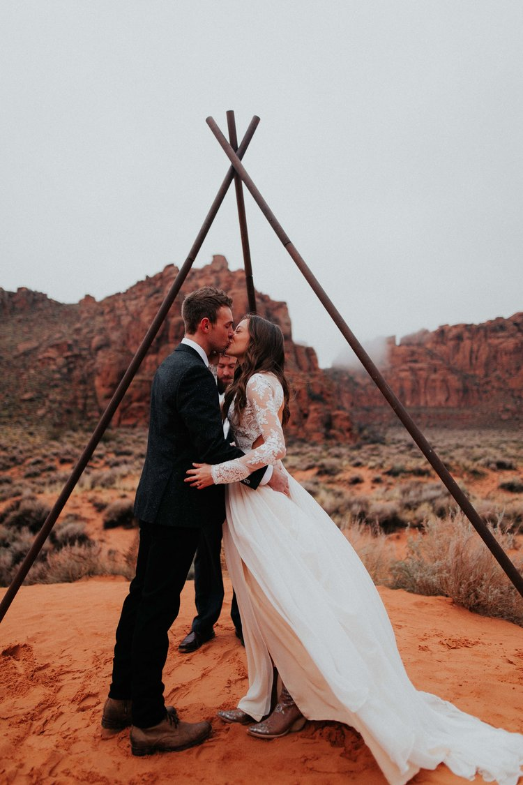 Ceremony in the desert -