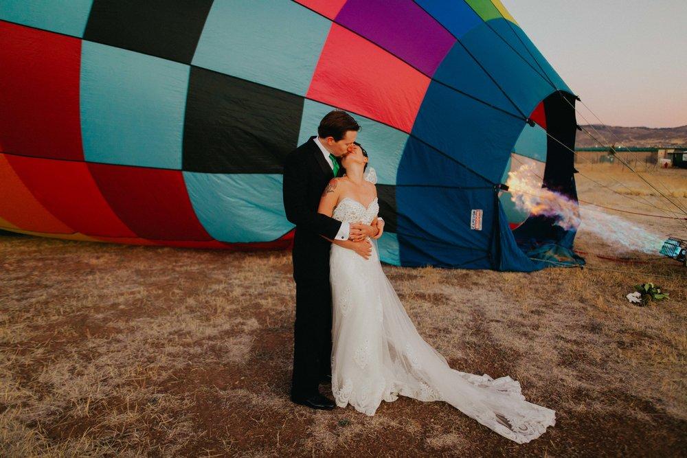 an elopement by air -