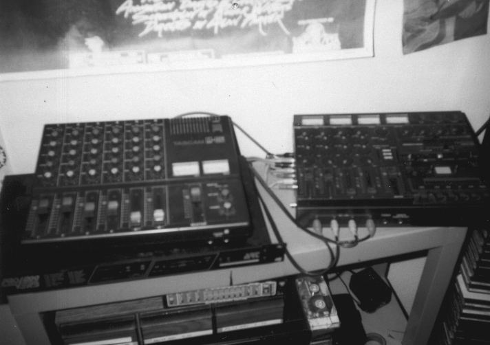 My second 4 track cassette rig.  Clarksville Tennessee 1989.