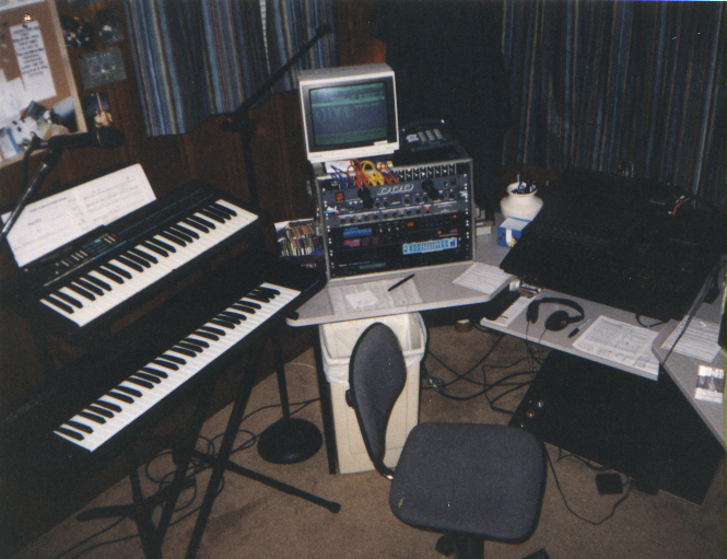 Another shot of the Memphis 1991 setup. A Tascam 688 using MIDI sync with a Roland S-50 Sequencer. 16 track sequencer and 7 tracks of analog cassette. I recorded my first music that made it to CD with this rig.