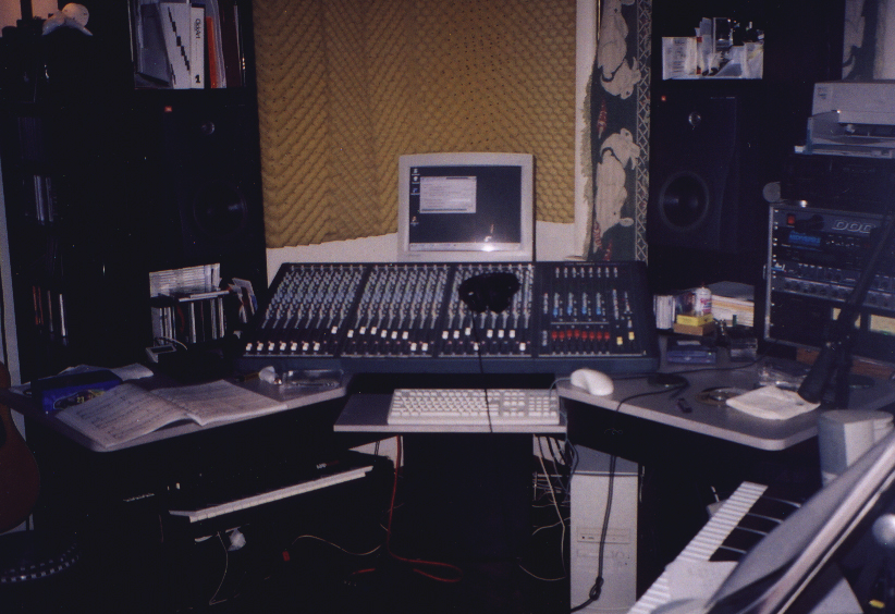 Nashville, TN 1995 ish, My first computer setup. Using Cakewalk on a Windows 95 PC. Upgraded Soundcraft console.