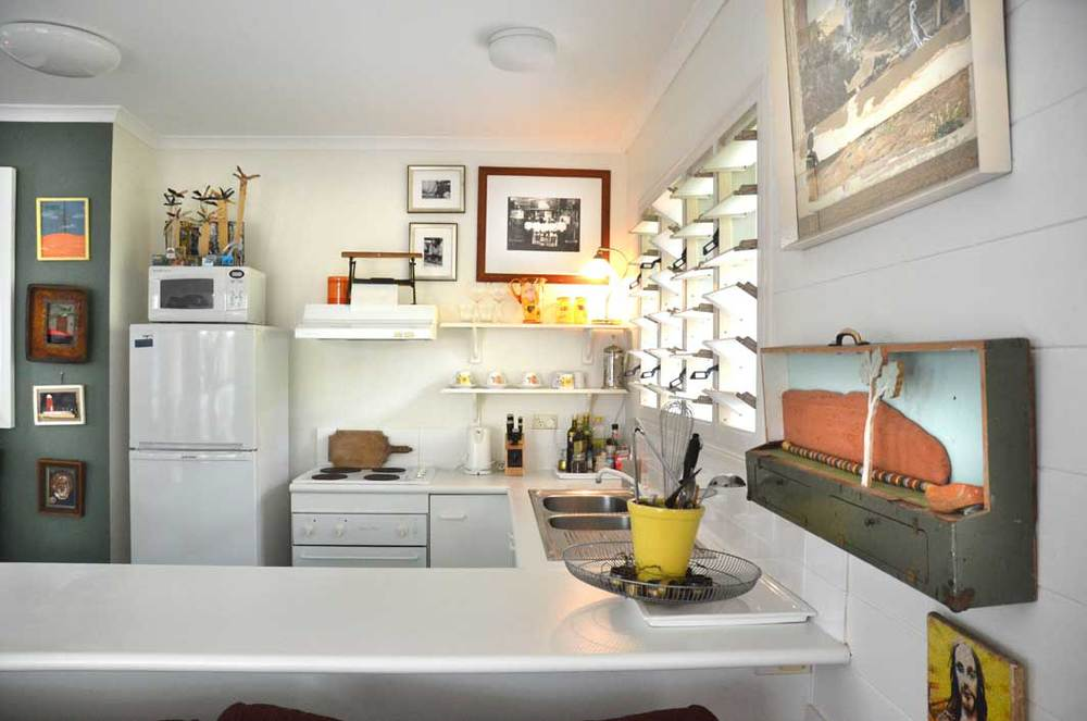 The kitchen is fully self contained with all you could need to make the most of the delicious north queensland produce