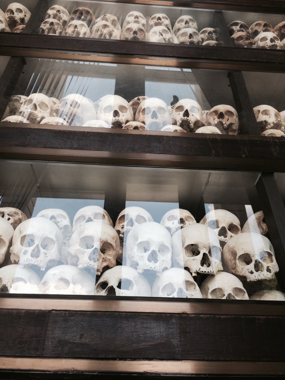 this was scary. I couldn't believe my eyes. I actually saw these skulls. There were thousands of them. It was shocking.