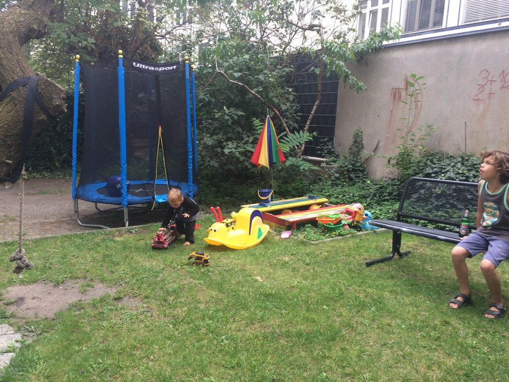 this is every body's back yard, including mine. i reckoned there are a lot of toys here.