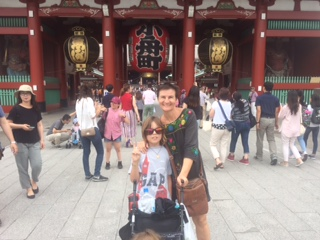 his is a photo of a temple in the middle of tokyo  called senso'ji.