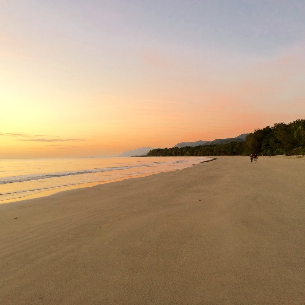 morning strolls along fourmile beach is the perfect start to the day