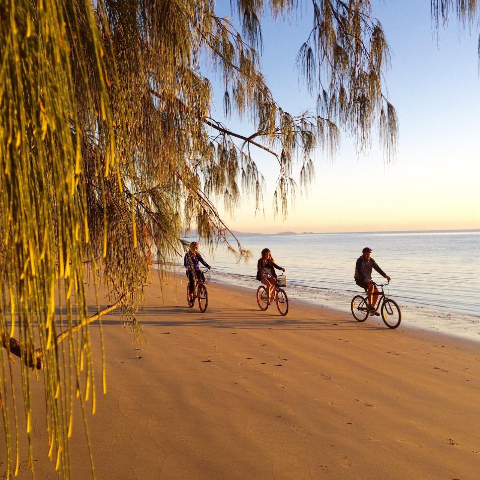 bike riding Fourmile Beach