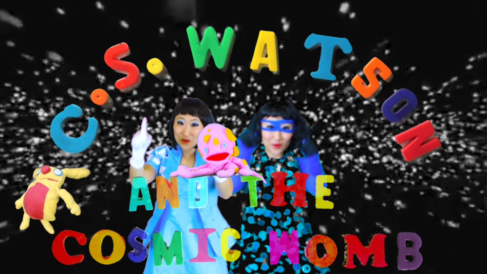 """""""Watson and the COS Present - Begin Transmission to the Earth,"""" digital video collage, Chroma-Vision © animation, acetate animation, handmade puppets, music by artist, 2015, 2 min."""