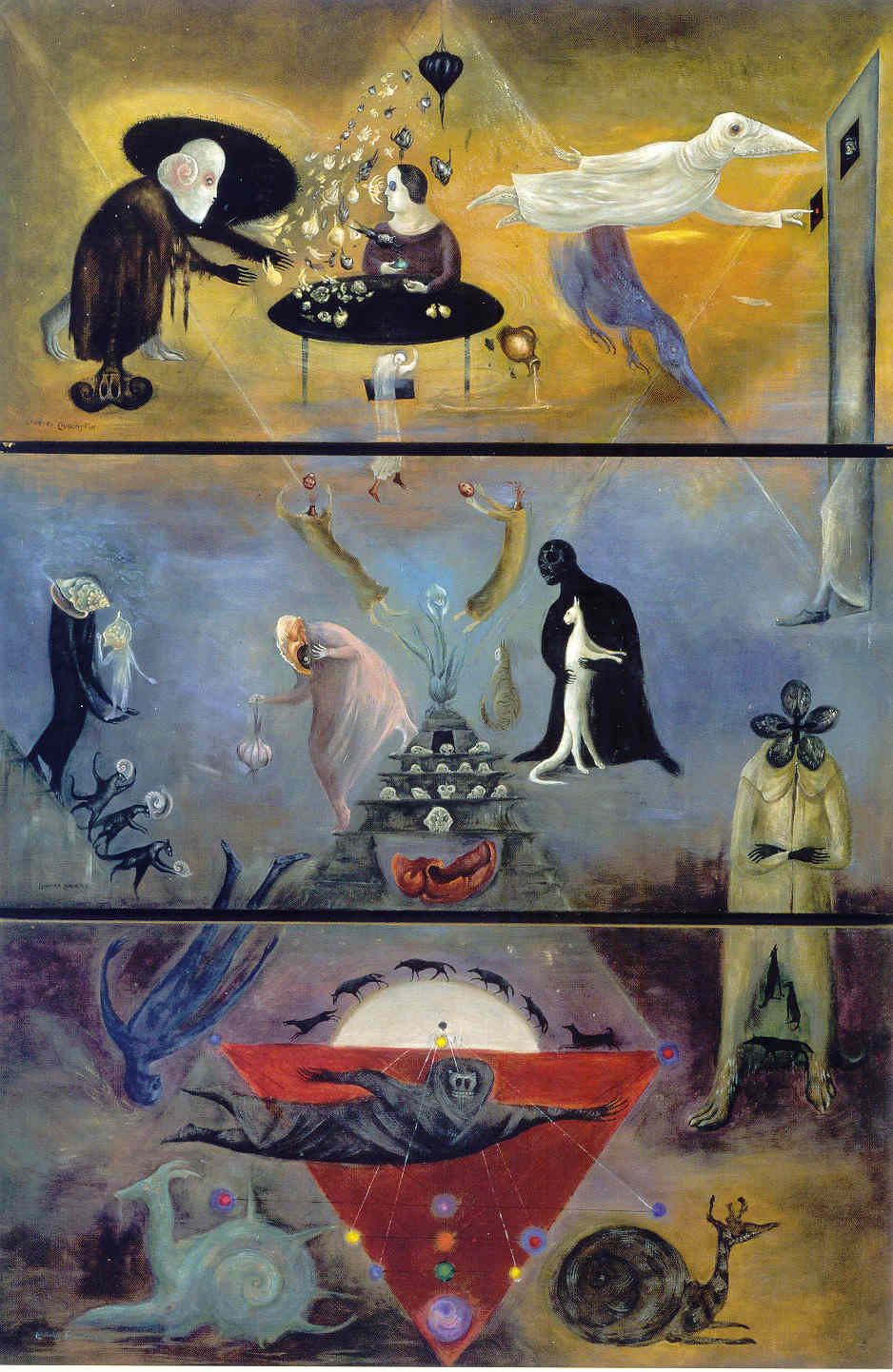 Leonora Carrington, Took my way down II I took my way down, like a messenger, to the deep, 1977