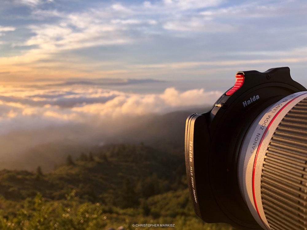 Haida's M10 system on a telephoto lens.