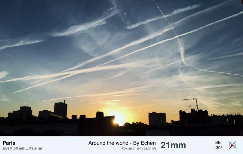 The photo took by Echen when they were in Paris.