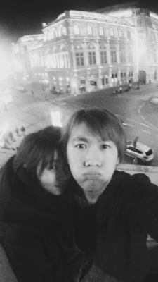 Echen & his girlfriend in Vienna.