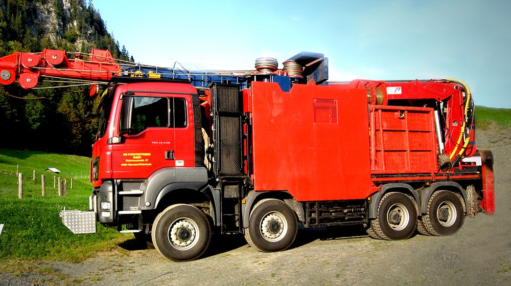 TST 800 5t Gebirgsharvester / Mountain Harvester