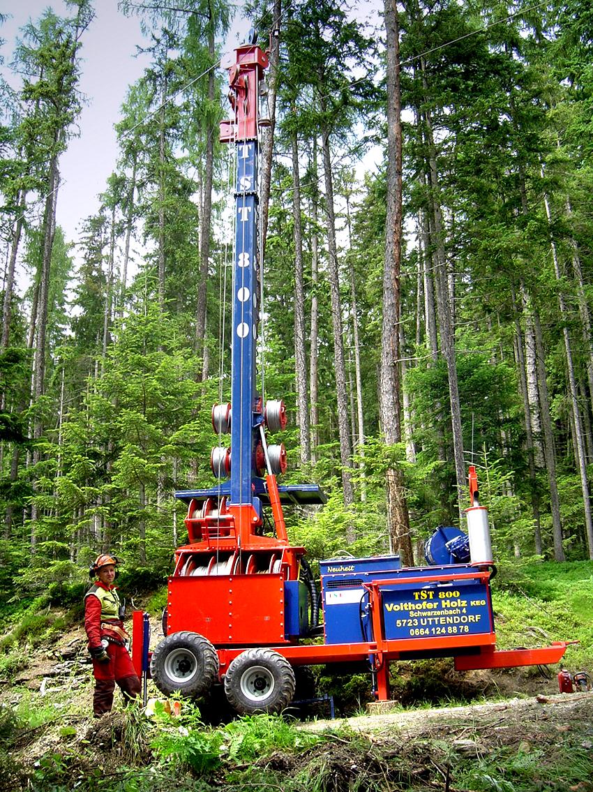 TST 800 4t auf Anhänger / on trailer