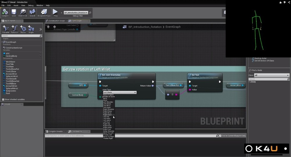 Kinect 4 unreal opaque media group the plugin primarily interfaces through a component based system where once activated through the plugin menu any blueprint can have the kinect interface malvernweather Images