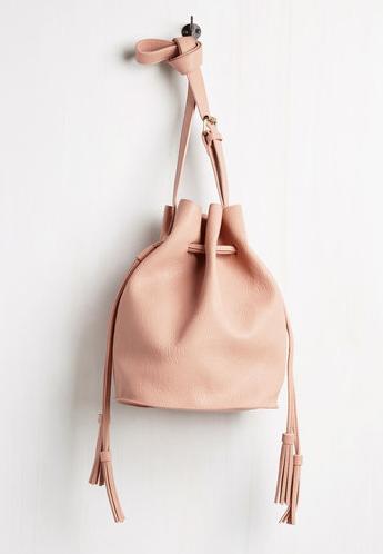 Modcloth Worth the Tassel Bag $59.99 Color: Blush Pink Tone: Warm