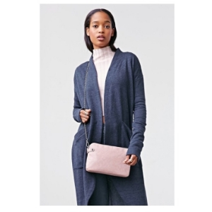 Urban Outfitters Silence + Noise North Convertible Triple-Zip Clutch $34.99   Color:  Baby Pink  Tone:  Cool