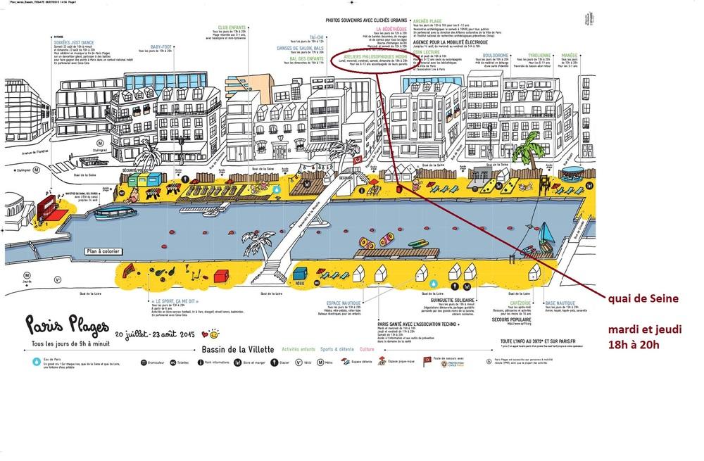 Bassin de la Villette - Quai de Seine - Mardi et Jeudi 18h à 20h