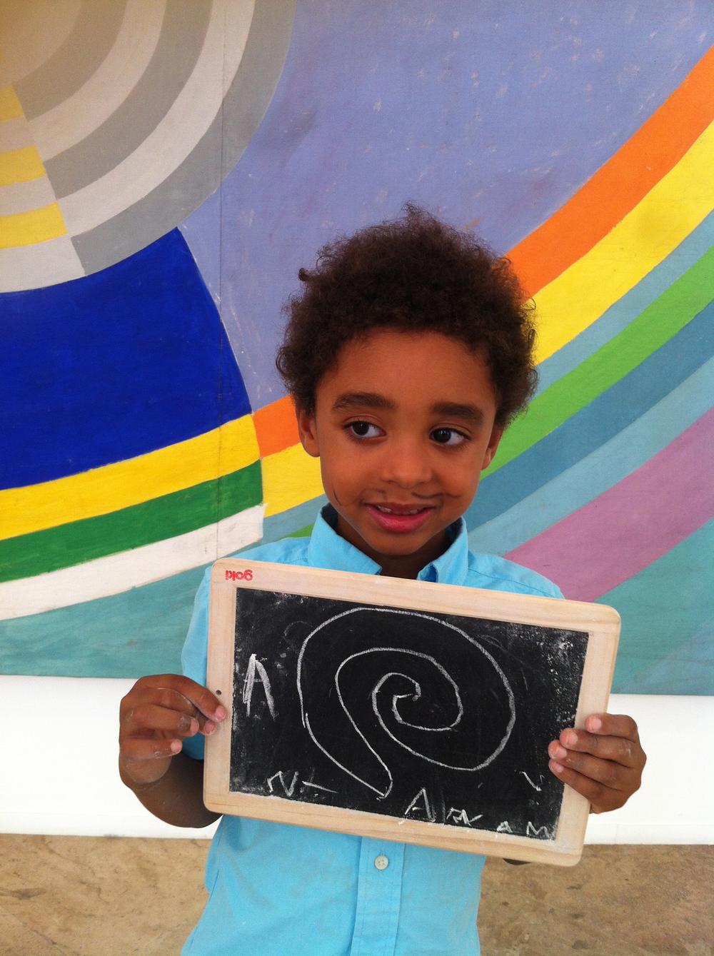 Au Musée d'Art Moderne de la Ville de Paris... qu'est ce que la visite a inspiré aux enfants ?