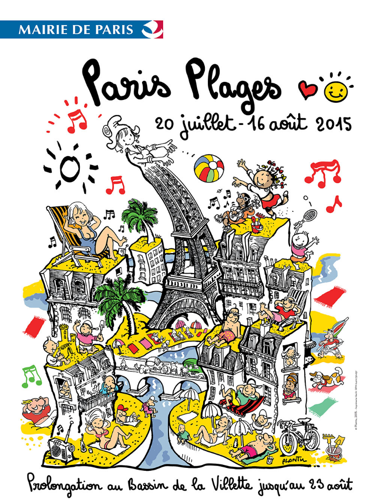 Paris Beach Festival 2015 (summer public event along the Seine river)