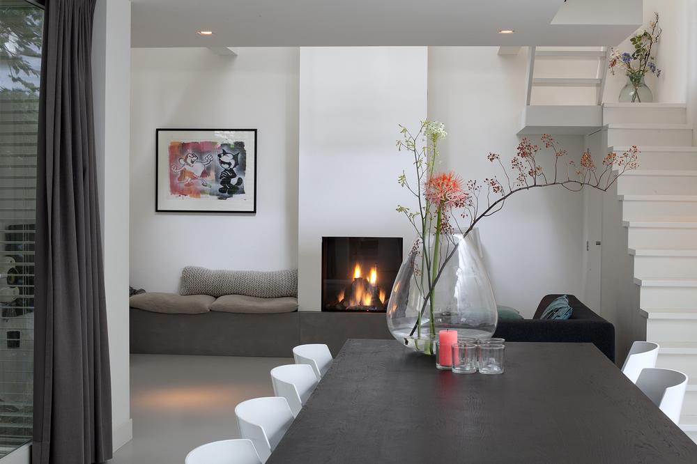 Fire place, villa Amsterdam
