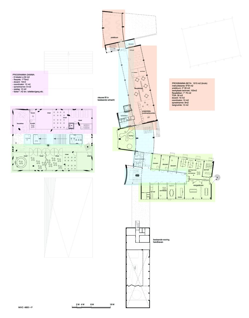 Expansion Rijnlands Lyceum in Wassenaar.             Competition total approx. 5000 m2 floor area.  Design 2011