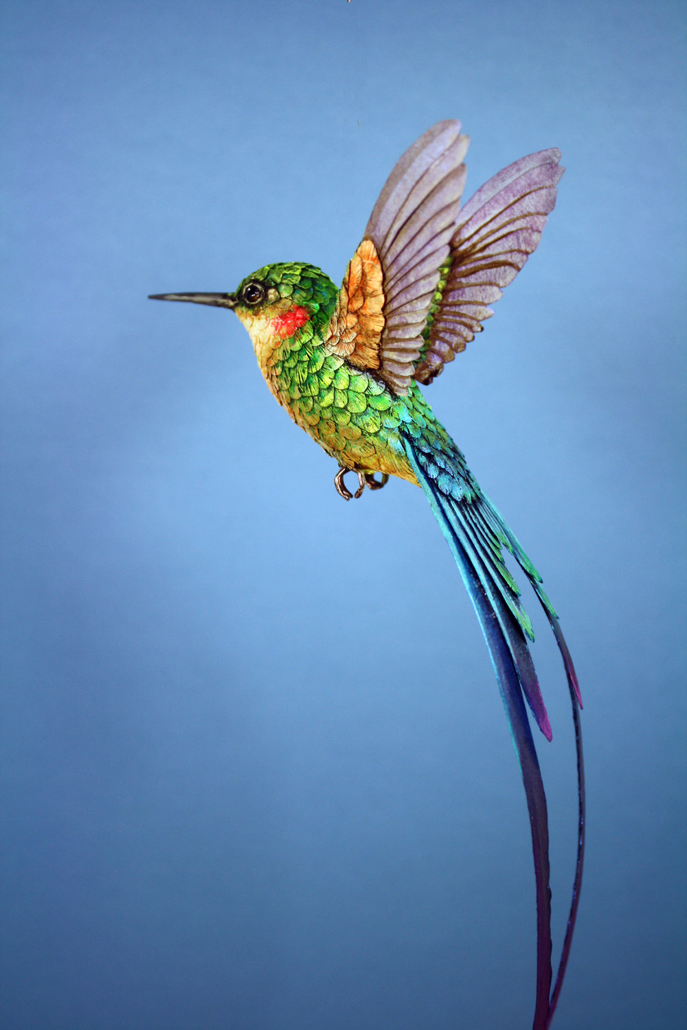 Each hummingbird takes around 40 hours to make.