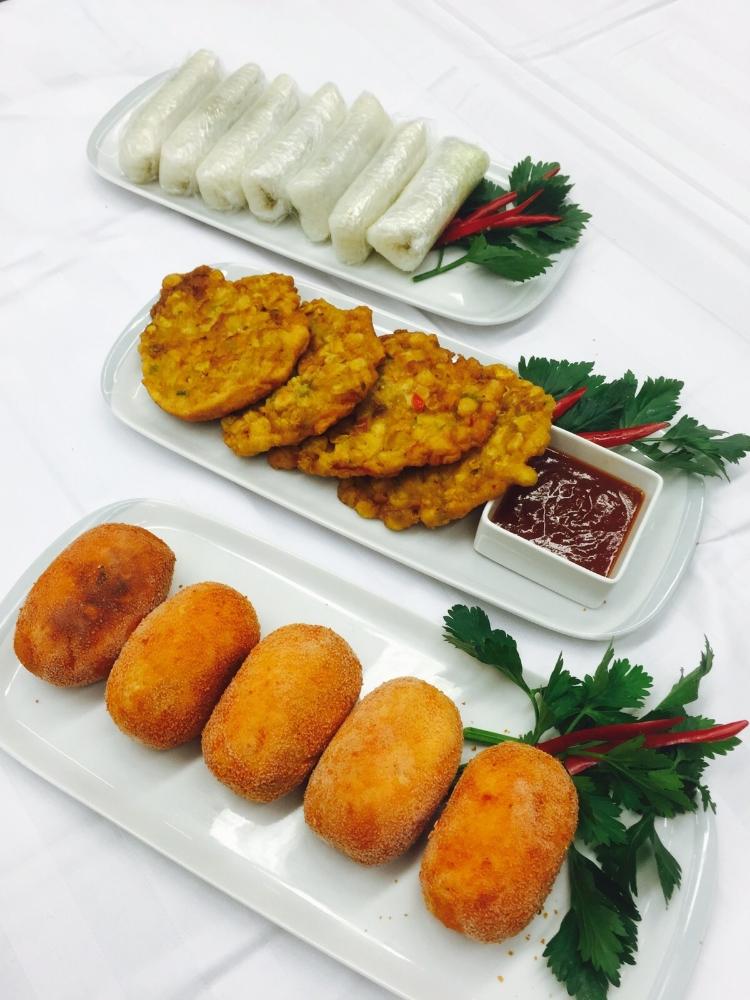 Maiskoekjes en Indonesische Kroket