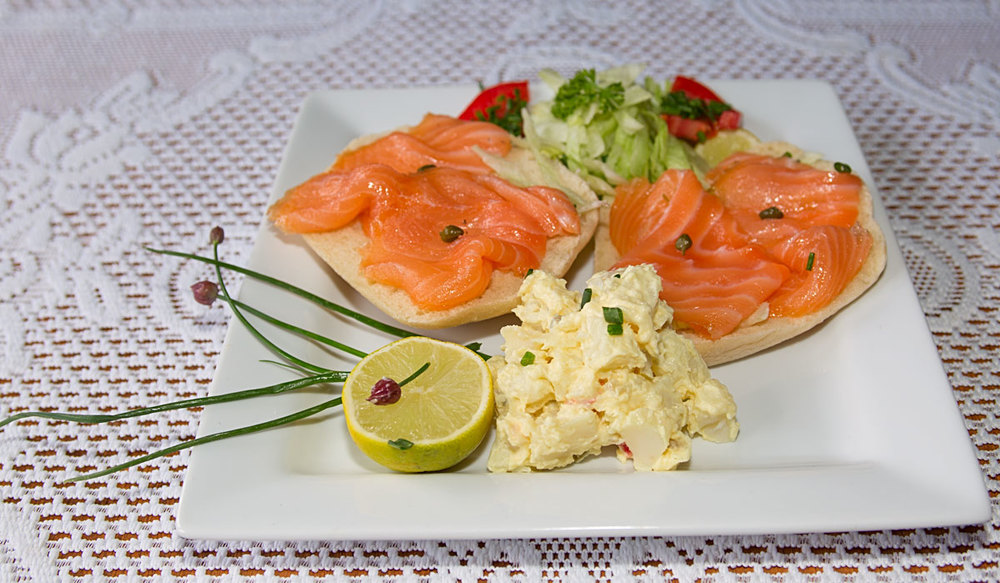 Smoked Salmon Open-Faced Sandwich