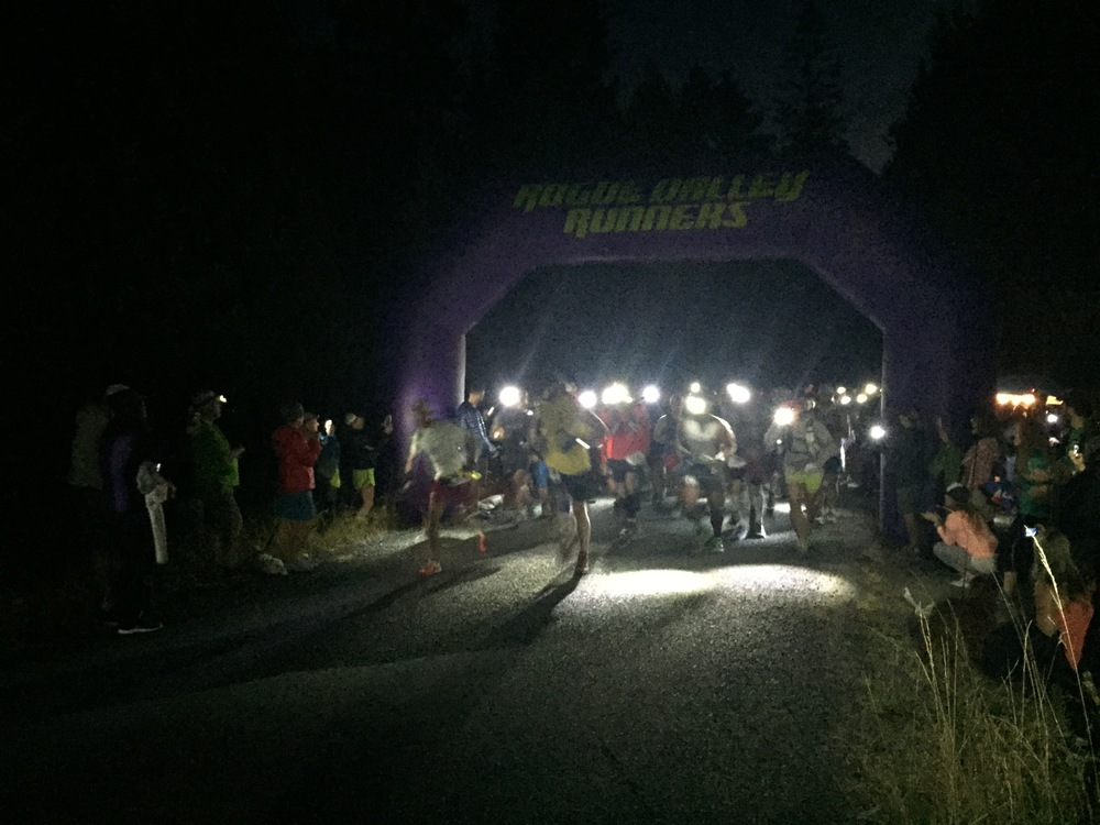 And we're off! 6:00 AM start in Williams, Oregon. Photo Credit: Josie George