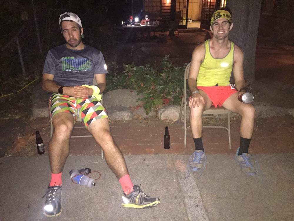 Debatable which is tougher running a 100 or crewing/pacing a 100? Either way we were wiped! Photo Credit: Josie George