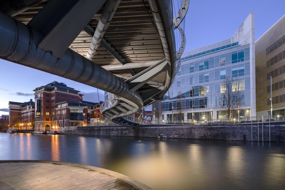 Temple Quay Foot Bridge,Bristol,UK