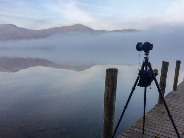 Dawn mist at Ashness Jetty.