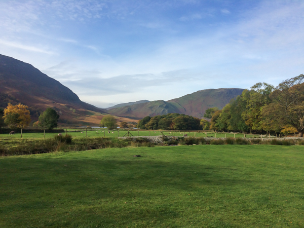 View from my tent.,Sykes Farm , Buttermere.